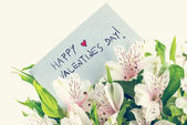 Vintage style Valentines background — Stock Photo
