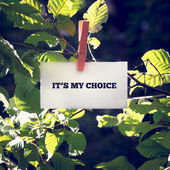 It is my choice — Stock Photo