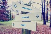 Present, Future and Past Concept — Stock Photo