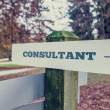Consultant signpost with right pointing arrow — Stock Photo #67827853