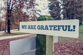 We Are Grateful — Stock Photo