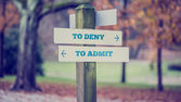 Sign Post Pointing Toward Choices in Honesty — Stock Photo