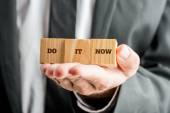 Encouraging message Do it now — Stock Photo