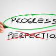 Progress - Perfection - concept — Stockfoto #68520679