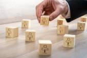 Blocks for Customer-Managed Relationship Concept — Stock Photo