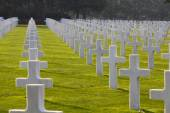 Normandy American Cemetery and Memorial Graves, Omaha Beach — Stock Photo