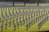 Henri-Chapelle American Cemetery and Memorial, Crosses and Star of David — Stock Photo