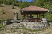 Place for repose in Balkan mountain — Stock Photo