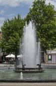 Fountain in centre of Plovdiv town — Stock Photo