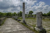 Part of Ancient Roman town peristyle complex Abritus — Stock Photo