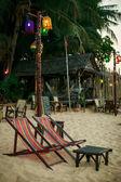 Kumsaldaki kafe — Stok fotoğraf