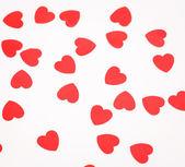 Viele Herzen auf weißem Hintergrund — Stockfoto