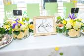 Tabell bruden och brudgummen — Stockfoto