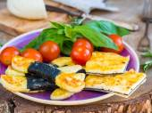 Vegetarian cheese appetizer — Stock Photo