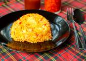 Yellow rice with saffron. Indian Cuisine — Stock Photo