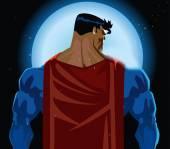 Superhero back — Stock Vector