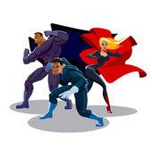 Superhero team — Stock Vector