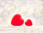 Decoration, two Valentines heart — Photo