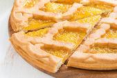 ломтики яблочного пирога, крупным планом, горизонтальные — Стоковое фото