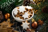 Christmas cookies in the form of stars — Stock Photo