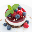 Delicious cake with fruit jelly and fresh berries — Stock Photo #64767097