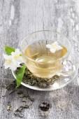 Зеленый чай Жасмин — Стоковое фото