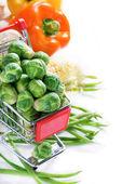 Fresh vegetables over light background — ストック写真