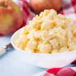 Apples with vanilla custard in a bowl — Stock Photo #67159567