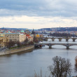 View of the bridges on cold spring or autumn day, Prague, the Cz — Stock Photo #55579231