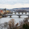 View of the bridges on cold spring or autumn day, Prague, the Cz — Stock Photo #55579397
