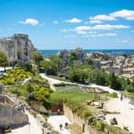 Castle Les Baux de-Provence, Provence, France on warm sunny day — Stock Photo #63790211