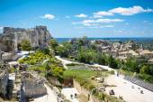 Castle Les Baux de-Provence, Provence, France on warm sunny day — Foto de Stock