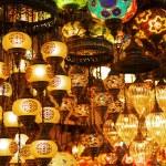 Oriental turkish lanterns at Istanbul market, Turkey — Stock Photo #54231767