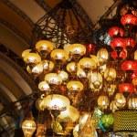 Oriental turkish lanterns at Istanbul market, Turkey — Stock Photo #54487035