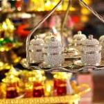 Oriental turkish lanterns at Istanbul market, Turkey — Stock Photo #54569699