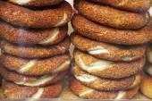Simit bread rings in Istanbul — Stockfoto