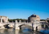 Sant Angelo Castle and Bridge in Rome, Italy — Stock Photo
