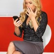 Business Woman Using a Mobile Telephone — Stock Photo #56817341