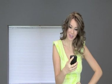 Attractive Young Using a Cell Phone — Stock Video