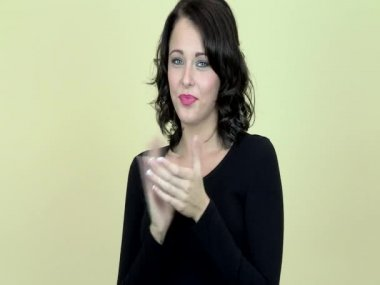 Young Woman Clapping Sarcastically — Stock Video