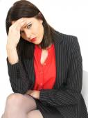 Stressed Young Business Woman — Stock Photo