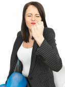 Angry Frustrated Business Woman — Stock Photo