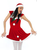 Sexy Santa Pin Up Model — Stock Photo