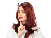 Young Business Woman Wearing Glasses — Stock Photo