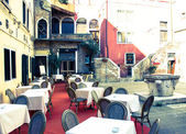 Venice, romantic restaurant — Stock Photo