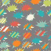 Seamless pattern with hedgehogs — Stock Vector