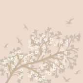 Spring branch background — Stock Vector
