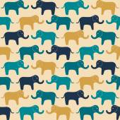 Cute pattern with small elephants — Stock Vector