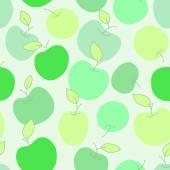 Zielone jabłka — Wektor stockowy