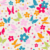 Pattern with butterflies — Stock Vector